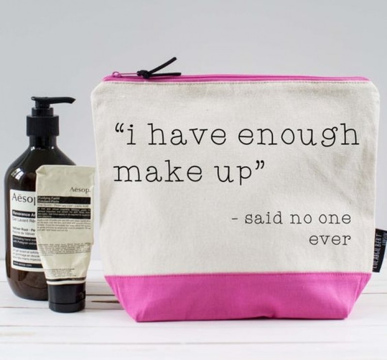 Necessaire Feminina para Maquiagem para Comprar Jequitinhonha - Bolsa Necessaire Feminina