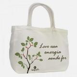 sacola de algodão crú bolsa ecológica ecobag para comprar Madureira