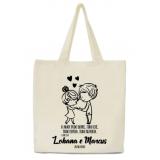sacola personalizada pano de lojas Sombrio