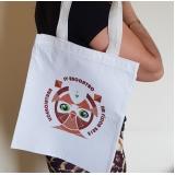 sacolas ecológicas personalizadas algodão crú para comprar Itajubá